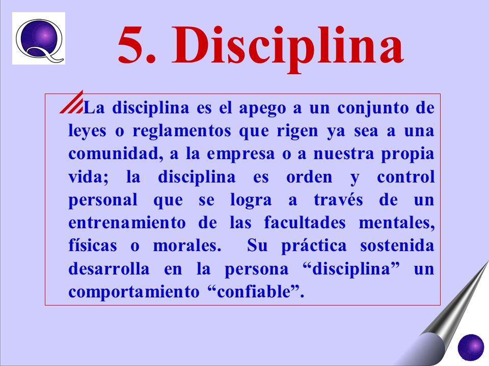 5. Disciplina