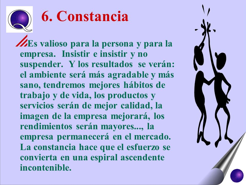 6. Constancia