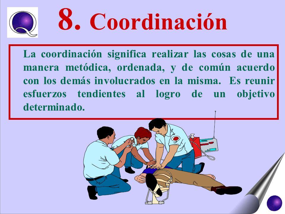 8. Coordinación