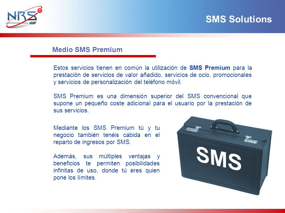 SMS Solutions Medio SMS Premium