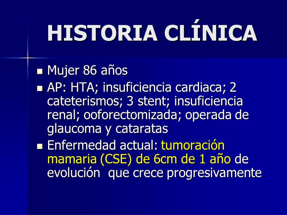 HISTORIA CLÍNICA Mujer 86 años
