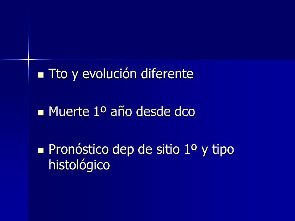 Tto y evolución diferente