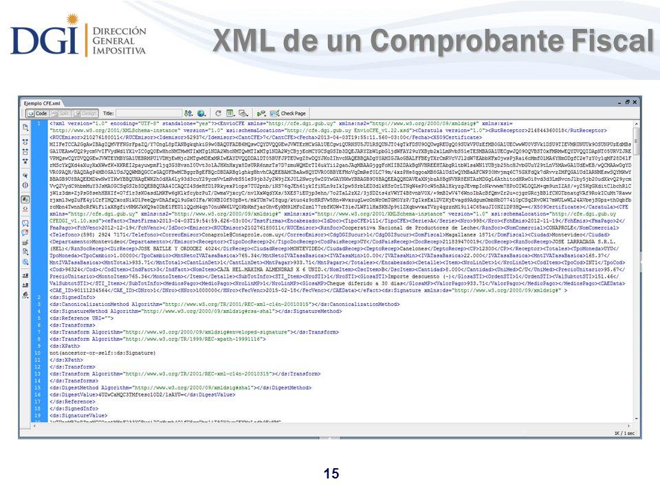 XML de un Comprobante Fiscal