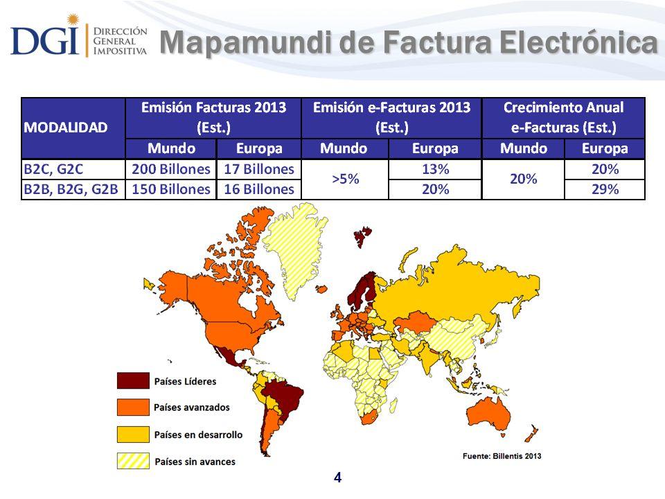 Mapamundi de Factura Electrónica