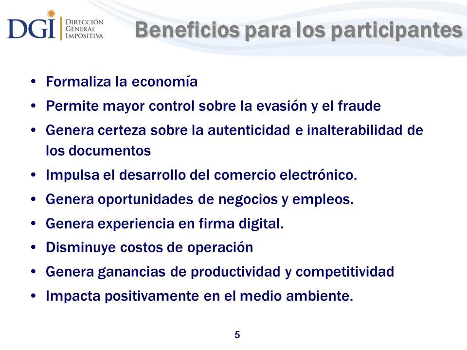 Beneficios para los participantes
