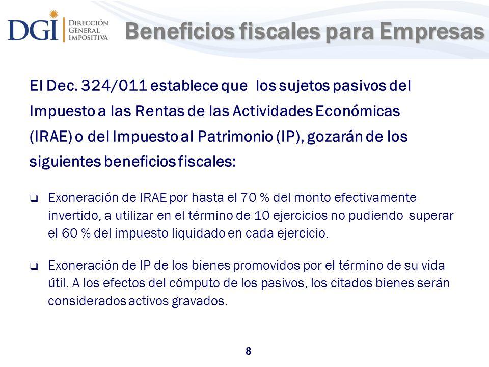 Beneficios fiscales para Empresas