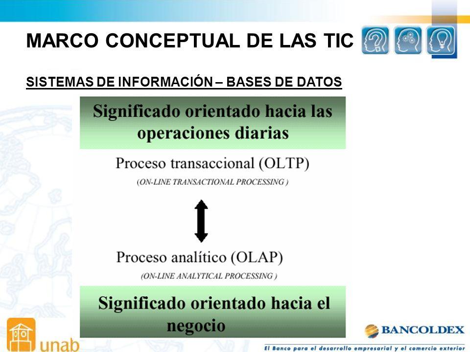 MARCO CONCEPTUAL DE LAS TIC