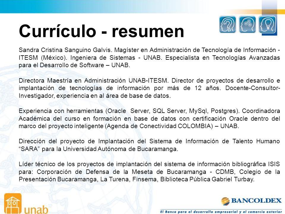 Currículo - resumen