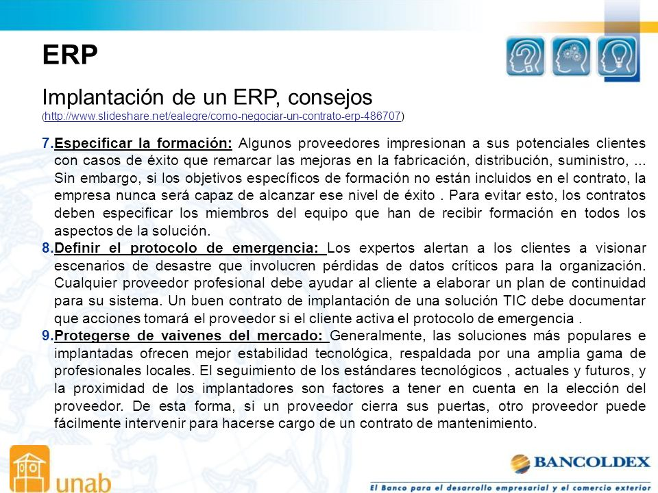 ERP Implantación de un ERP, consejos