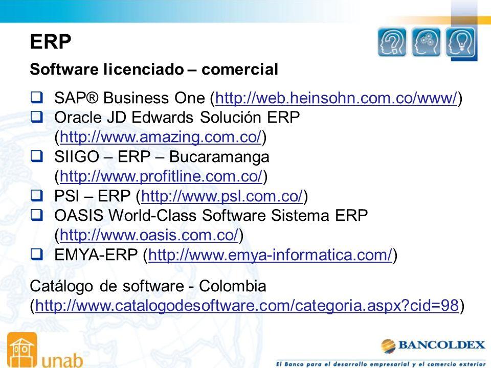 ERP Software licenciado – comercial