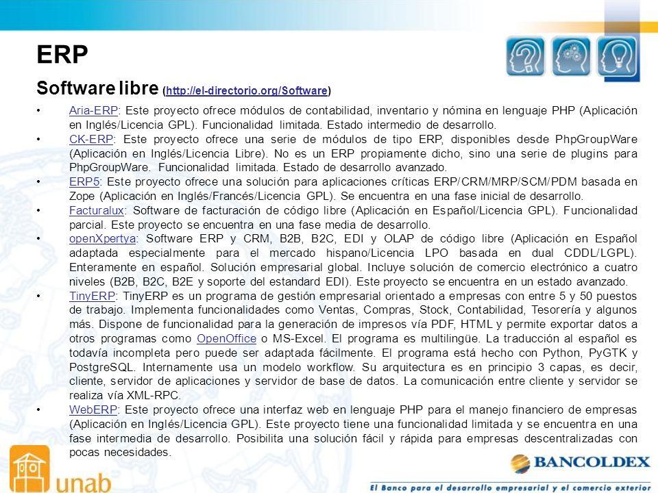 ERP Software libre (http://el-directorio.org/Software)