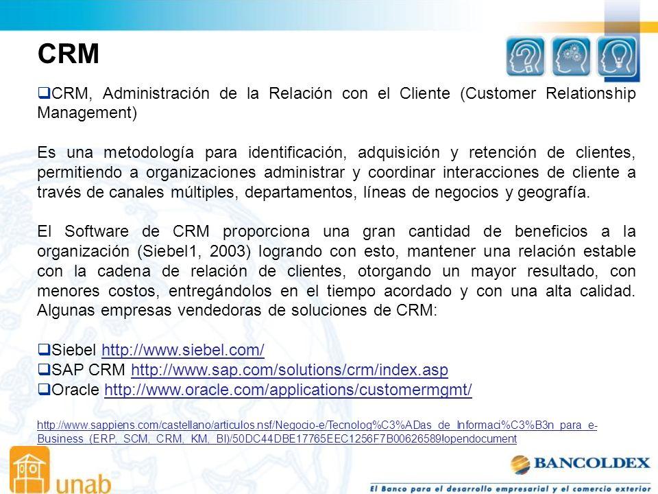 CRM CRM, Administración de la Relación con el Cliente (Customer Relationship Management)
