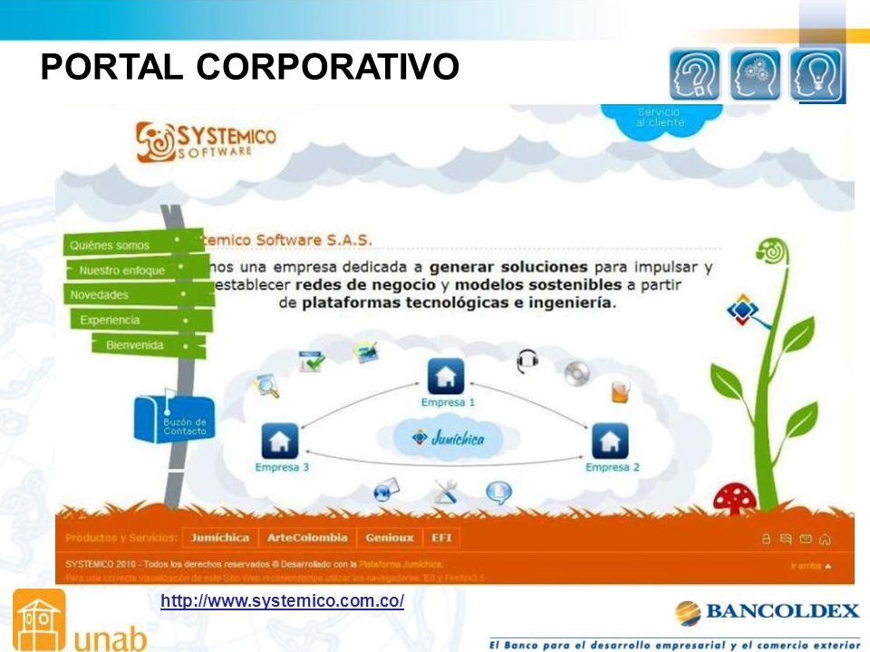 PORTAL CORPORATIVO http://www.systemico.com.co/
