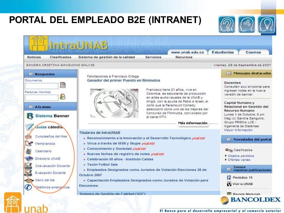 PORTAL DEL EMPLEADO B2E (INTRANET)
