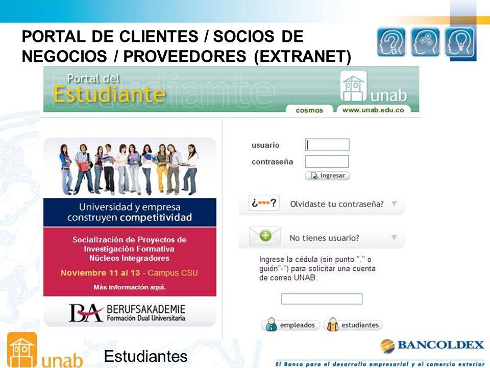 PORTAL DE CLIENTES / SOCIOS DE