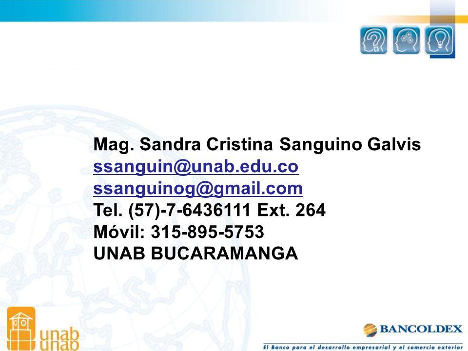 Mag. Sandra Cristina Sanguino Galvis