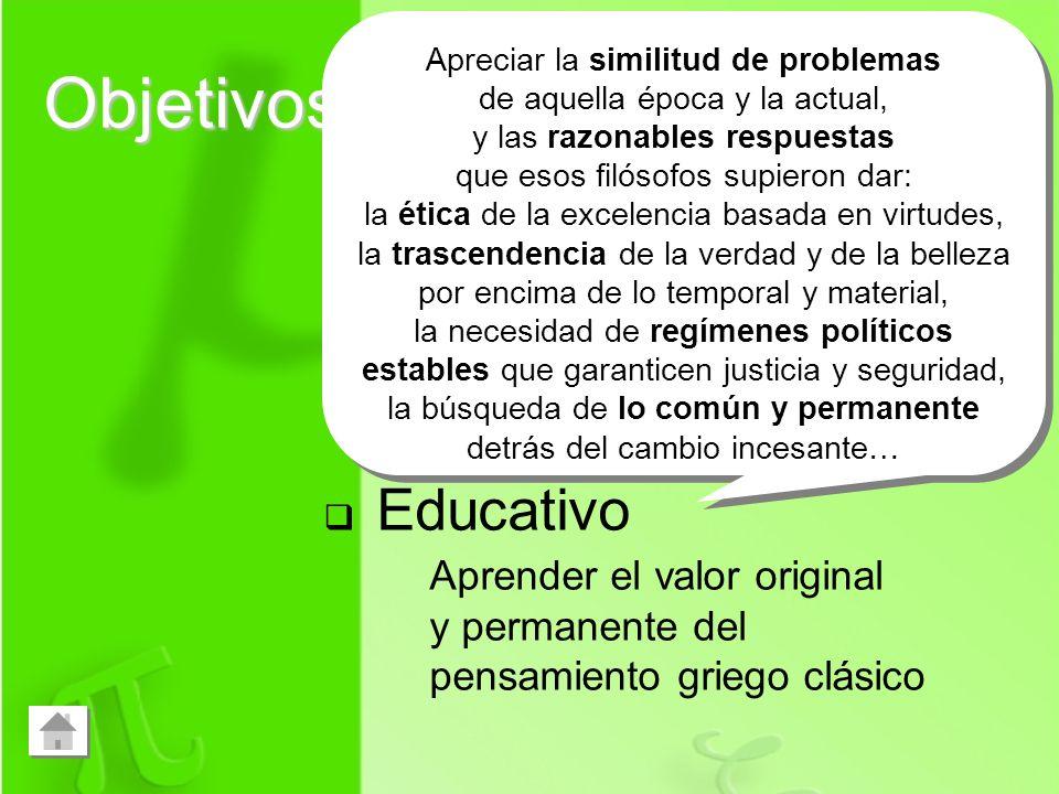 Objetivos Curricular Pedagógico Educativo Aprender filosofía