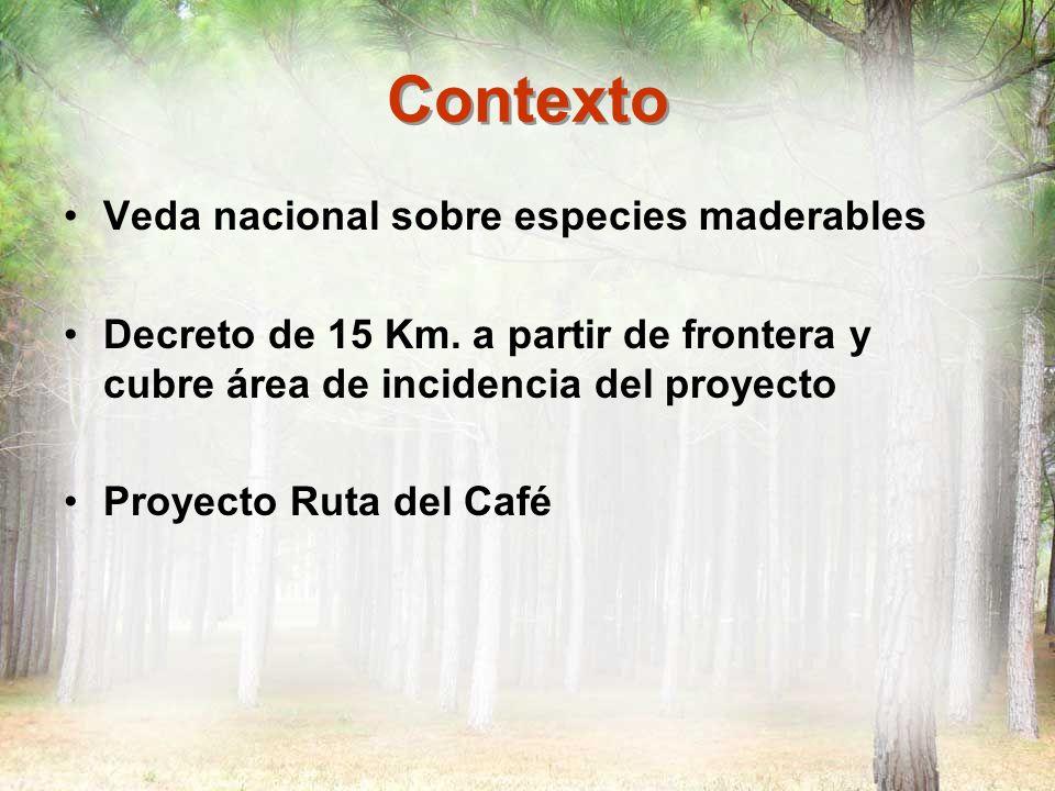 Contexto Veda nacional sobre especies maderables