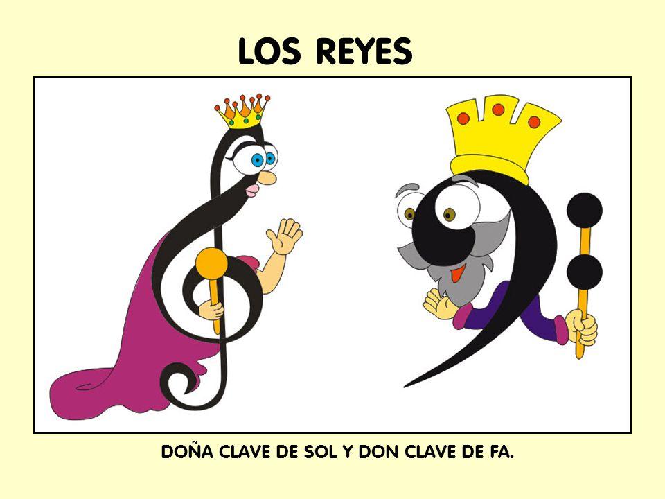 DOÑA CLAVE DE SOL Y DON CLAVE DE FA.