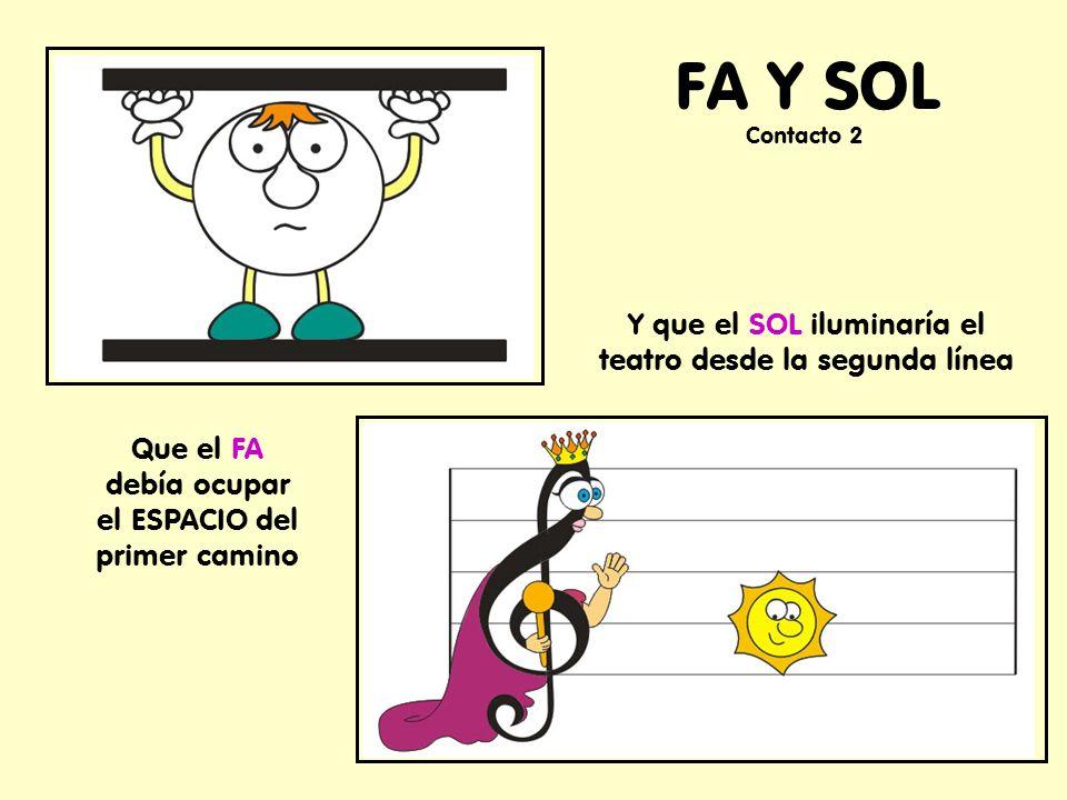 FA Y SOL Y que el SOL iluminaría el teatro desde la segunda línea