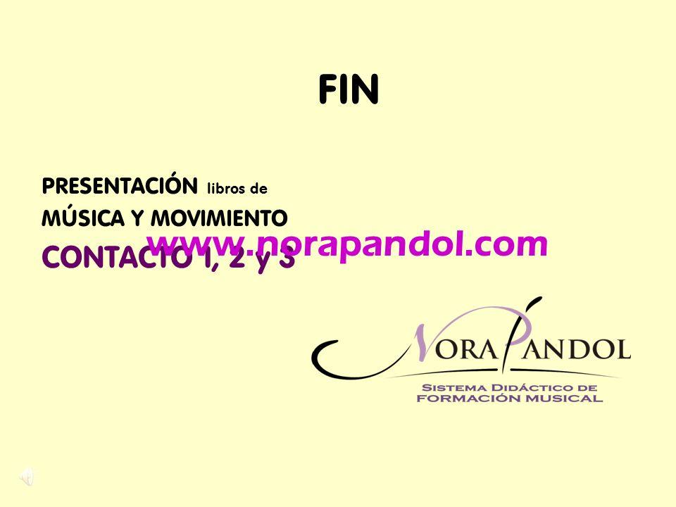 FIN www.norapandol.com CONTACTO 1, 2 y 3 PRESENTACIÓN libros de