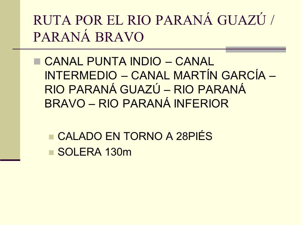RUTA POR EL RIO PARANÁ GUAZÚ / PARANÁ BRAVO
