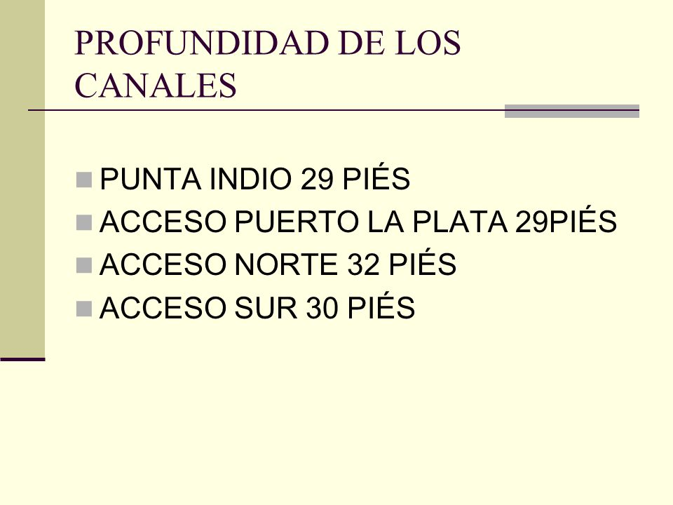 PROFUNDIDAD DE LOS CANALES