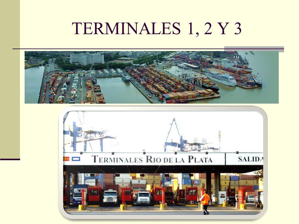 TERMINALES 1, 2 Y 3