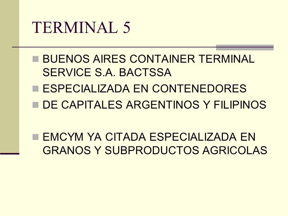TERMINAL 5 BUENOS AIRES CONTAINER TERMINAL SERVICE S.A. BACTSSA