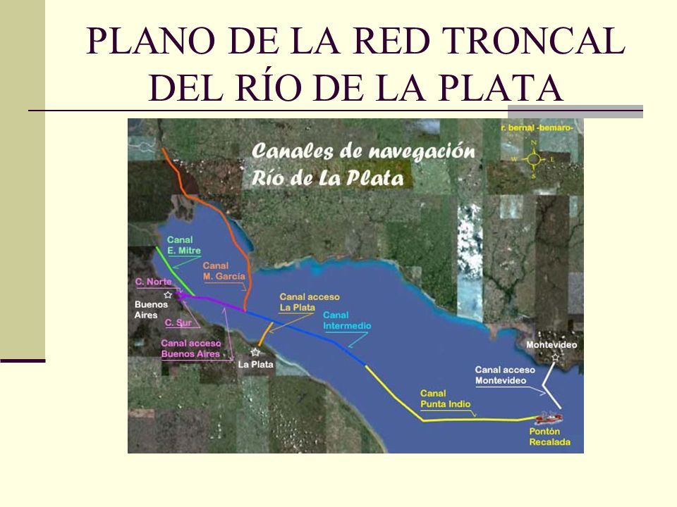 PLANO DE LA RED TRONCAL DEL RÍO DE LA PLATA