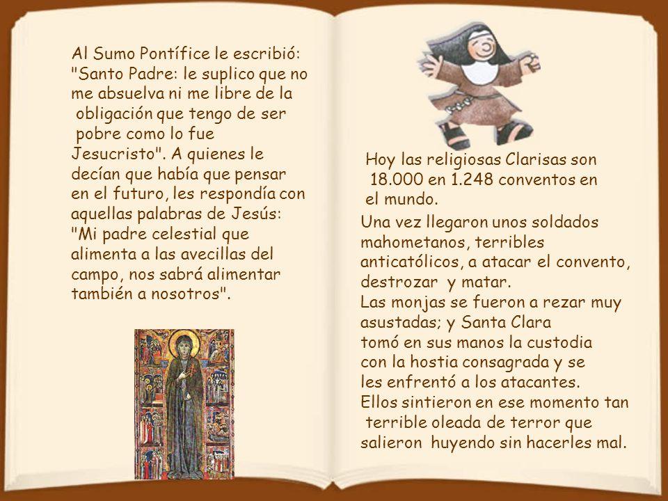 Al Sumo Pontífice le escribió: