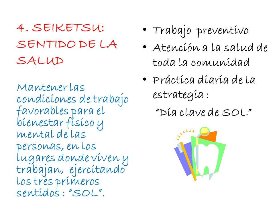 4. SEIKETSU: SENTIDO DE LA SALUD