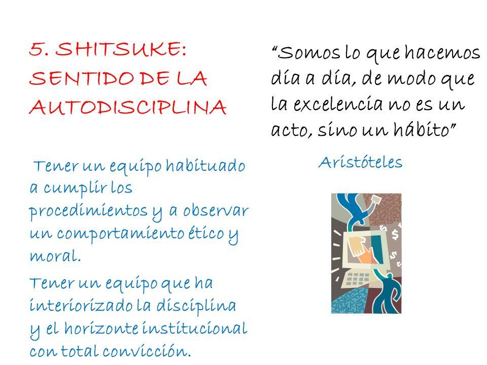 5. SHITSUKE: SENTIDO DE LA AUTODISCIPLINA