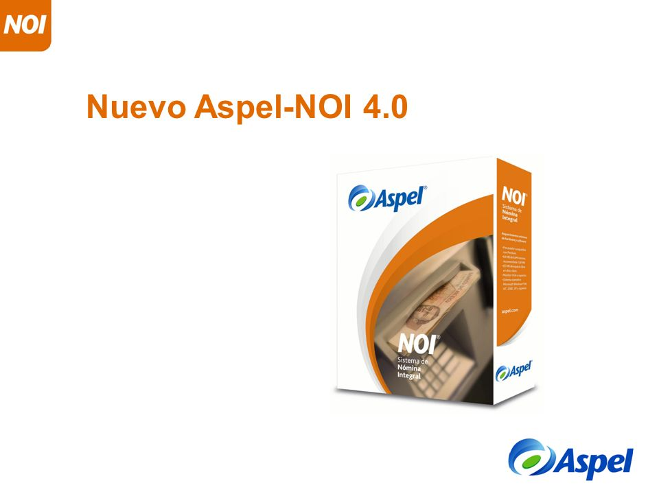 Nuevo Aspel-NOI 4.0