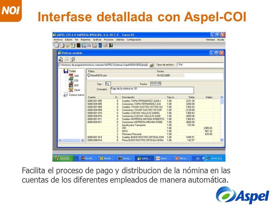 Interfase detallada con Aspel-COI