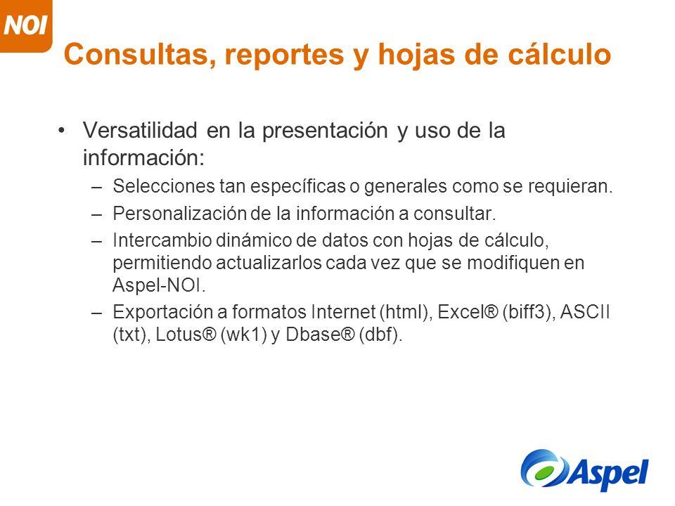Consultas, reportes y hojas de cálculo