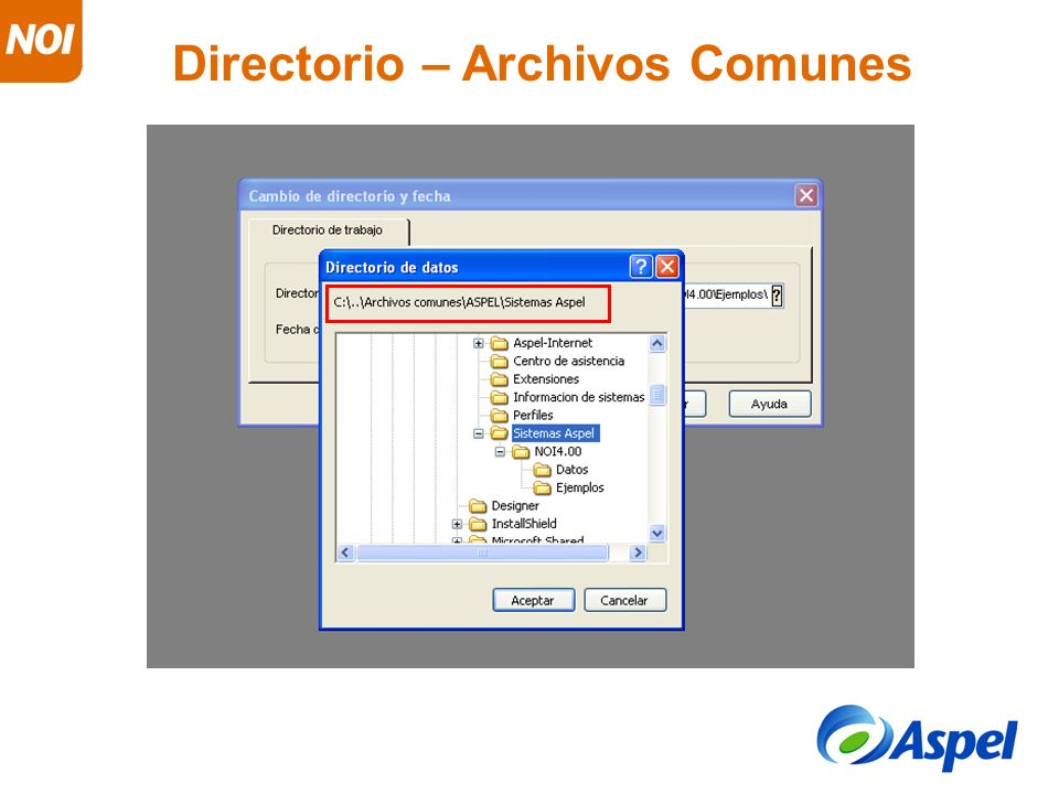 Directorio – Archivos Comunes