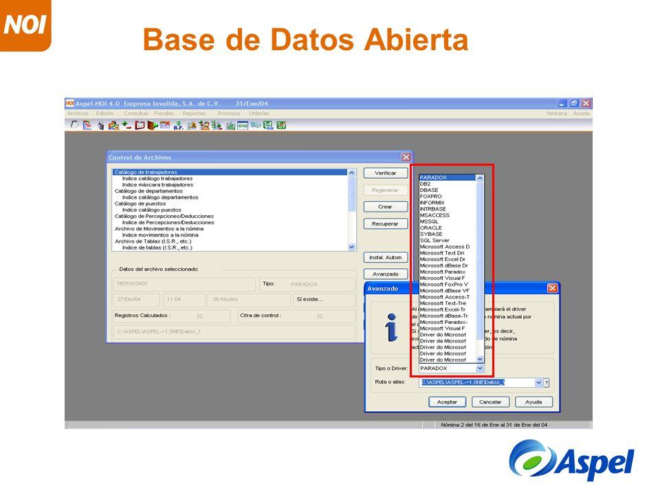 Base de Datos Abierta