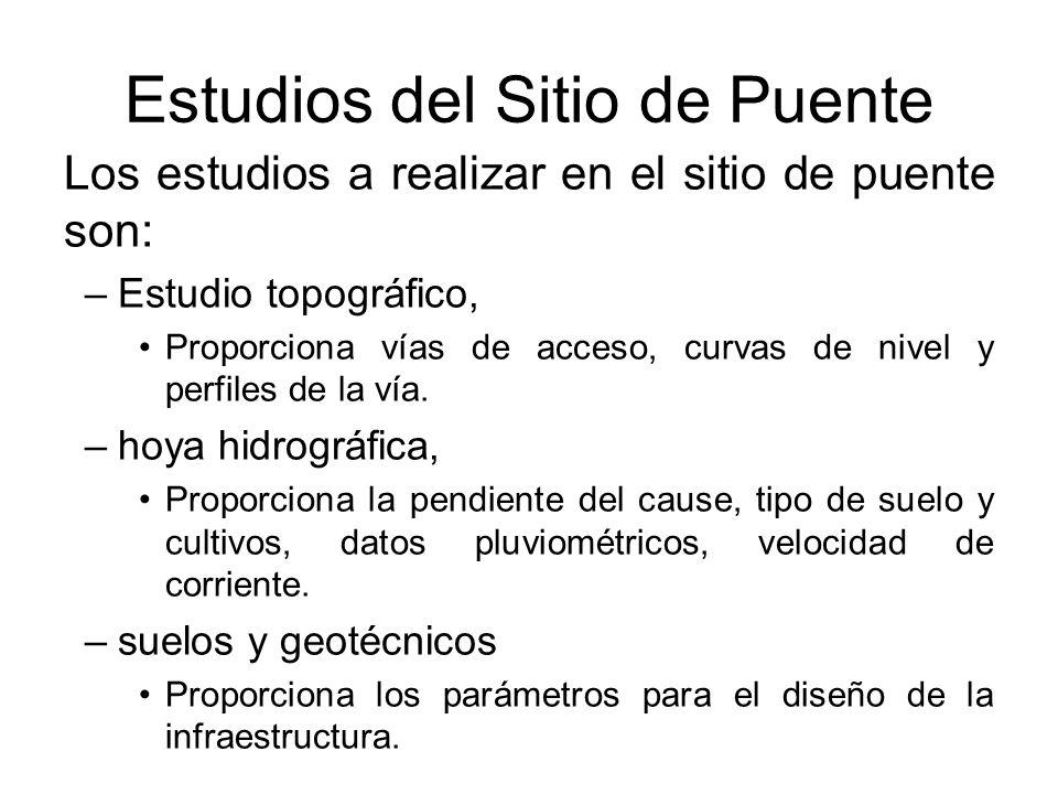 Estudios del Sitio de Puente