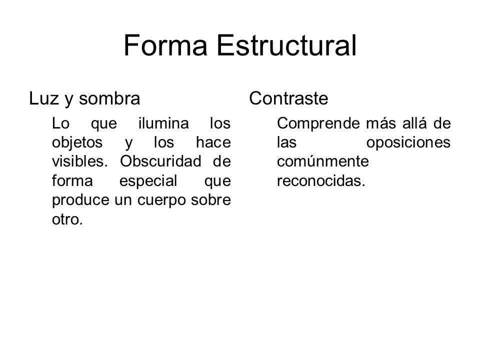 Forma Estructural Luz y sombra Contraste