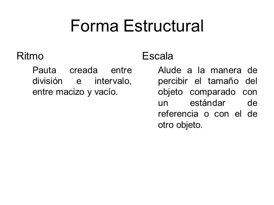Forma Estructural Ritmo Escala