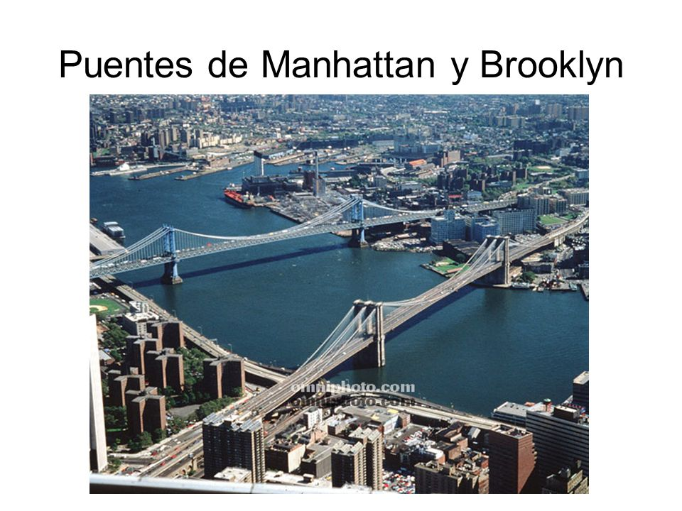 Puentes de Manhattan y Brooklyn
