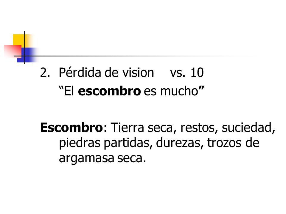 2. Pérdida de vision vs.