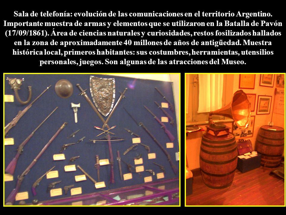 Sala de telefonía: evolución de las comunicaciones en el territorio Argentino.