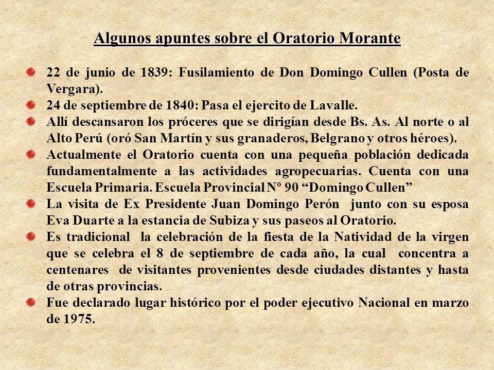Algunos apuntes sobre el Oratorio Morante