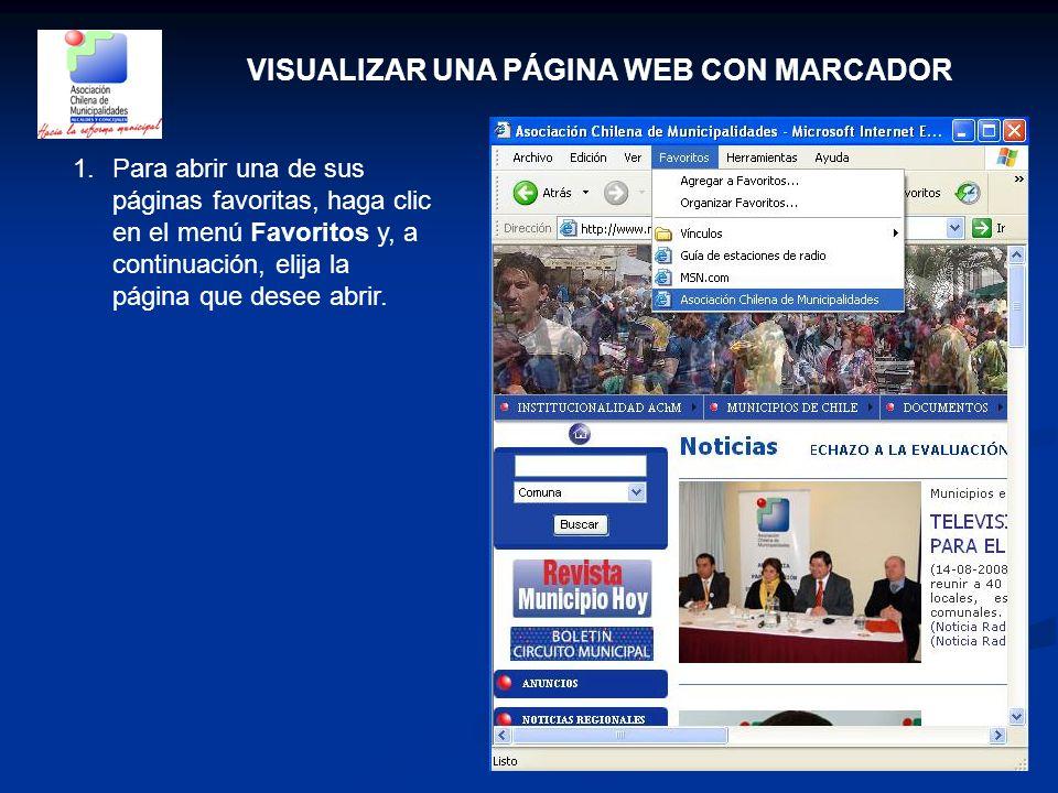 VISUALIZAR UNA PÁGINA WEB CON MARCADOR