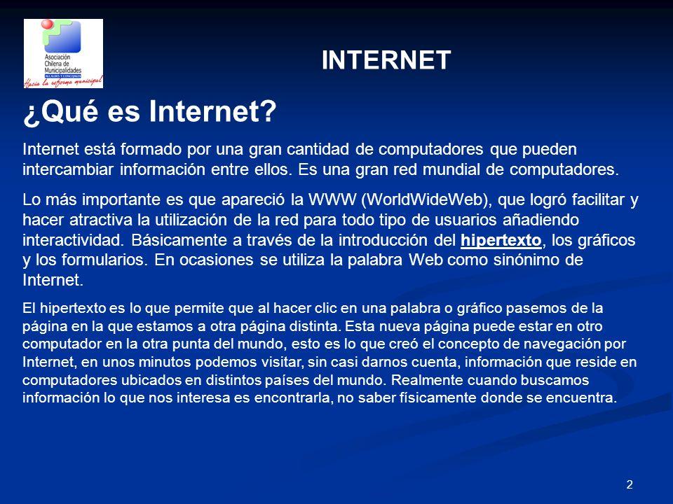 ¿Qué es Internet INTERNET