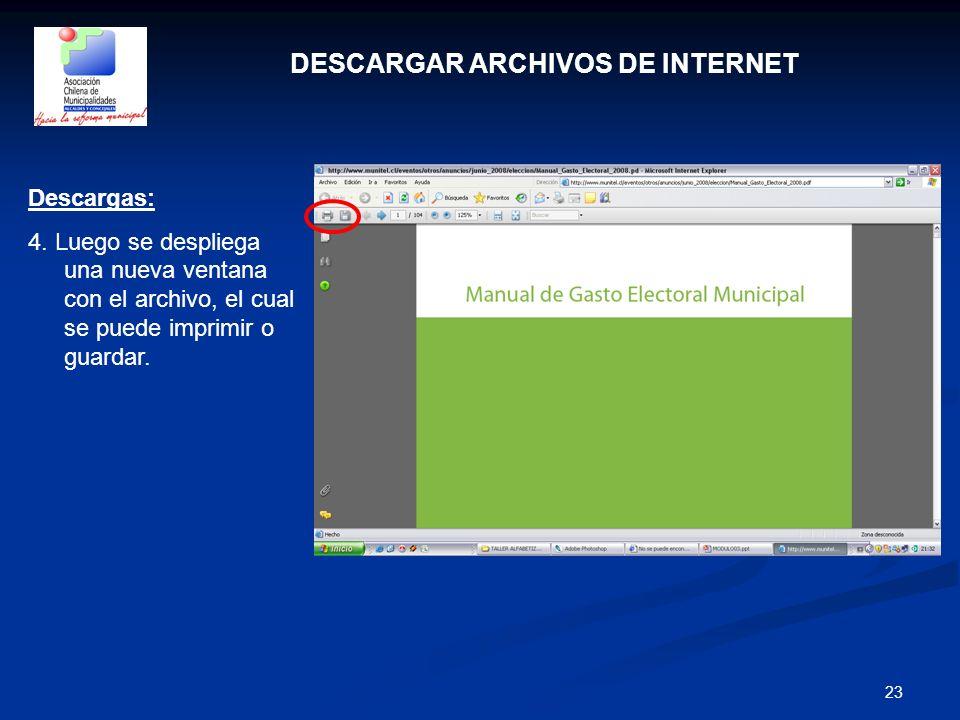 DESCARGAR ARCHIVOS DE INTERNET