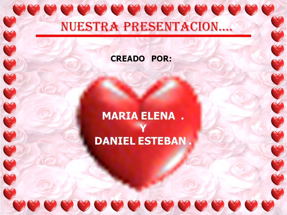 NUESTRA PRESENTACION.... CREADO POR: MARIA ELENA . Y DANIEL ESTEBAN .