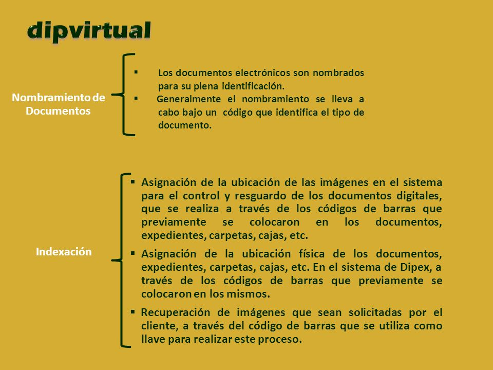 Nombramiento de Documentos